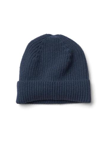 Gap Men Merino Wool Beanie - Navy
