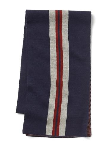 Gap Men Jacquard Stripes Scarf - Navy