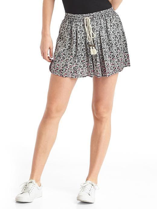 Gap Women Floral Drapey Shorts - Floral Print