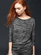 Gap Marled Longsleeve Top - True Black