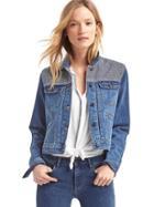 Gap Women Short Denim Jacket - Dark Indigo