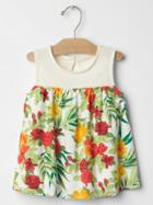 Gap Floral Mix Fabric Swing Top - White