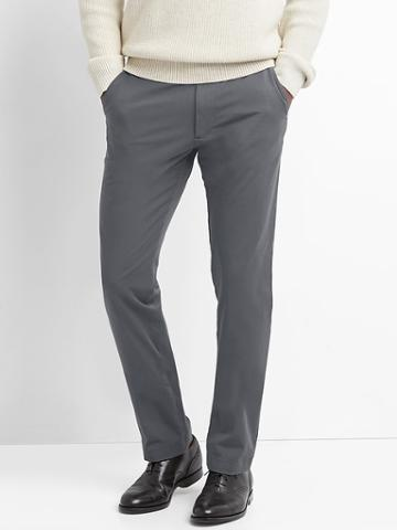 Gap Men Slim Fit Ultimate Khakis Bi Stretch - Cast Iron