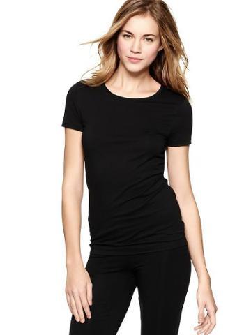 Gap Womens True Black Knit Pure Body Shirt - True Black Knit