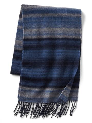 Gap Men Ombre Stripe Wool Scarf - Mascot Blue