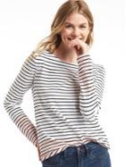 Gap Women Stripe Colorblock Long Sleeve Tee - Pink Stripe