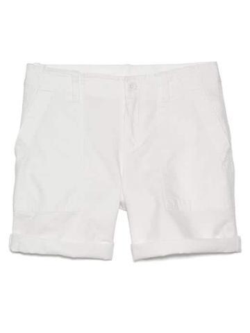 Gap Women Girlfriend Rolled Utility Shorts - White