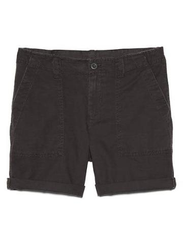 Gap Women Girlfriend Rolled Utility Shorts - Washed Black
