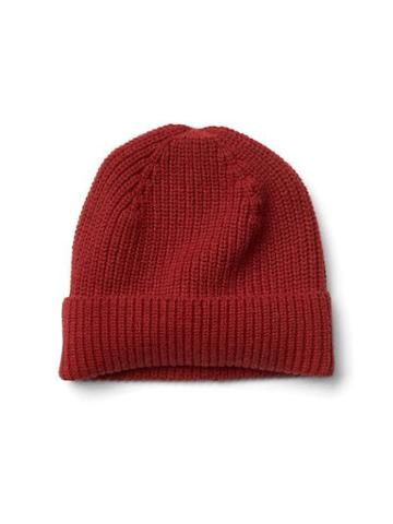 Gap Men Merino Wool Beanie - Tomato