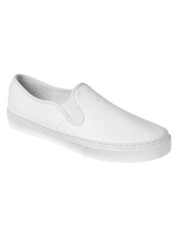 Gap Leather Slip On Sneakers - White