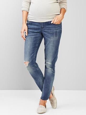 Gap Women 1969 Full Panel Distressed Boyfriend Jeans - Imperial Indigo