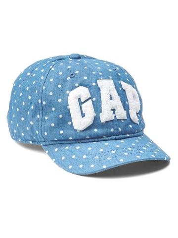 Gap Sherpa Logo Eyelet Baseball Hat - Chambray Dot