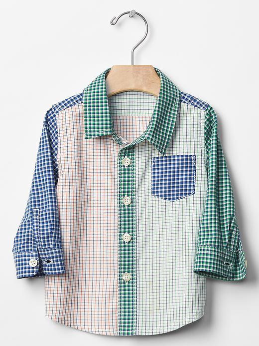 Gap Mix Plaid Shirt - Mix Plaid