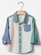 Gap Mix Plaid Shirt - Mix Plaid