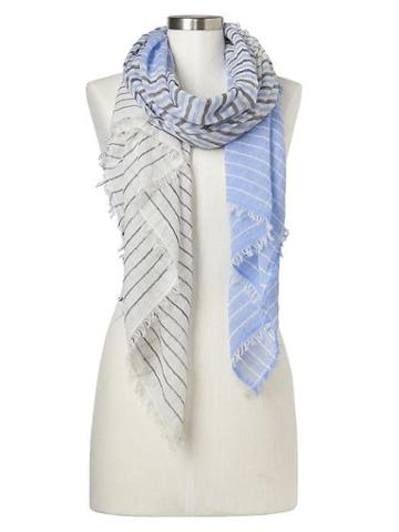 Gap Women Mix Stripe Fringe Scarf - Indigo Stripe