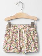 Gap Jersey Bubble Shorts - White Floral Print