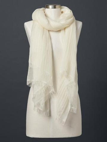 Gap Solid Scarf - White
