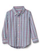 Gap Gingham Long Sleeve Shirt - Apple Blossom