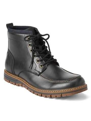Gap Men Lace Up Boots - Black
