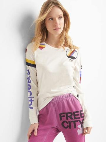 Gap Women Free City X Gap Long Sleeve Tee - Stone