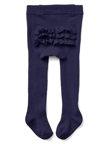 Gap Ruffle Sweater Tights - Dark Night