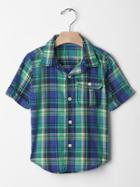 Gap Madras Plaid Shirt - Matisse Blue