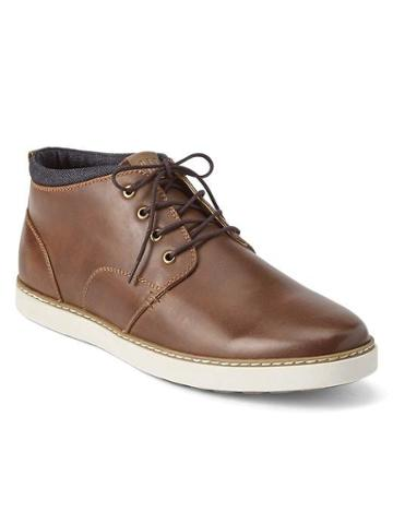 Gap Men Lace Up Casual Shoes - Brown