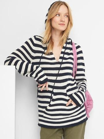 Gap Women Free City X Gap Stripe Hoodie - Dark Navy