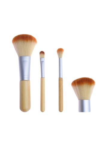Zoe Ayla Travel Bamboo Make-up Brush Set In Handy Travel Pouch (5 Pc)