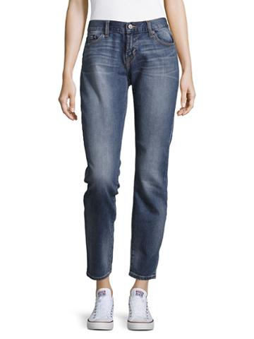 Jean Shop Whiskered Cropped Jeans