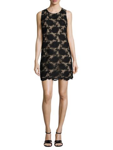 Cece Arlington Floral Embroidered Shift Dress