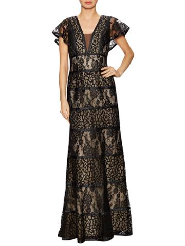 Basix Lace Overlayer Evening Gown