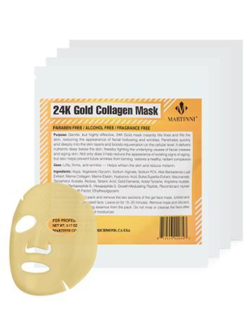 Martinni Beauty Masks 24k Gold Collagen Facial Mask (4 Pk)