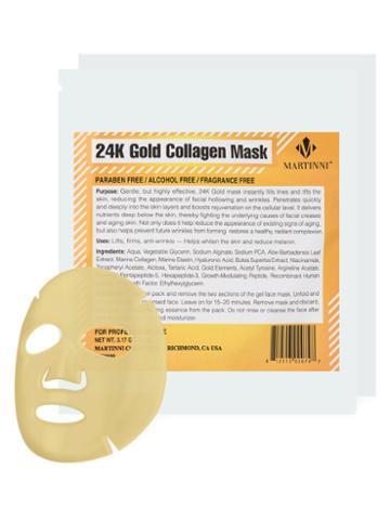 Martinni Beauty Masks 24k Gold Collagen Facial Mask (2 Pk)