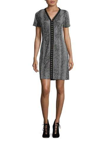 T. Tahari Sophia Knit Sheath Dress