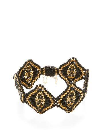 Miguel Ases Beaded Statement Bracelet
