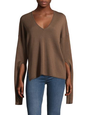 Tibi Mockrib Wool Sweater