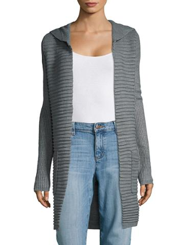 Cupio Hooded Open Front Cardigan