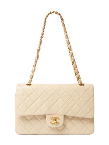 Chanel Vintage Cream Quilted Lambskin Classic Flap Medium
