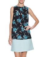 The Letter Sleeveless Pleated Top