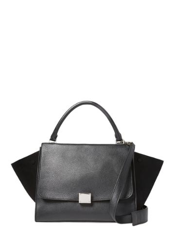 Celine Black Calfskin Trapeze Medium