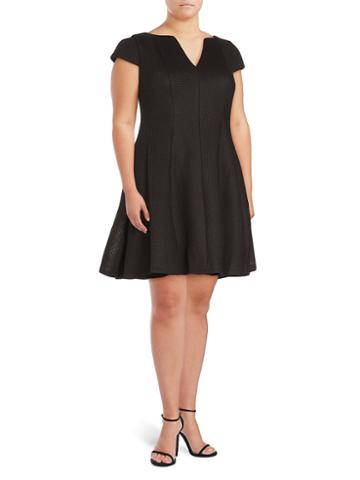 Julia Jordan Cap Sleeves Fit & Flare Dress