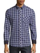 Ben Sherman Cotton Plaid Shirt