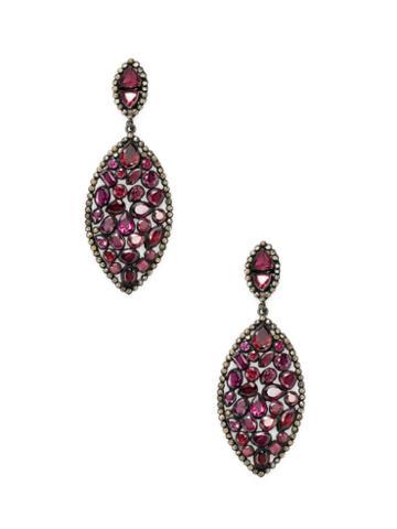 Arthur Marder Fine Jewelry Diamond & Garnet Earrings