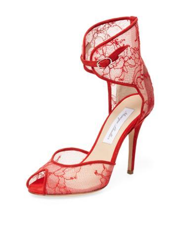 Monique Lhuillier Pippa Lace Two-piece Sandal