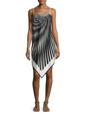 La Perla Printed Asymmetrical Dress