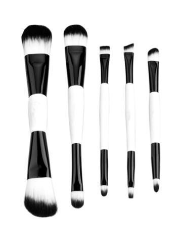 Zoe Ayla Double-sided Professional Make-up Brush Set - Black & White (5 Pc)