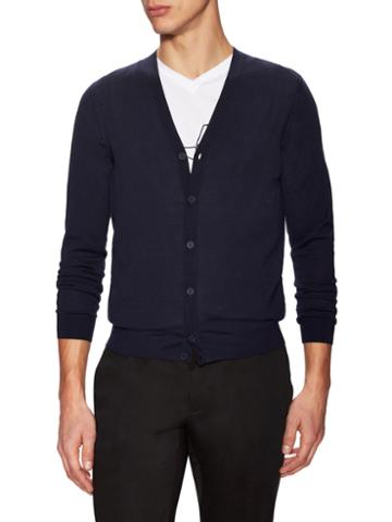Z Zegna Wool V-neck Buttoned Cardigan