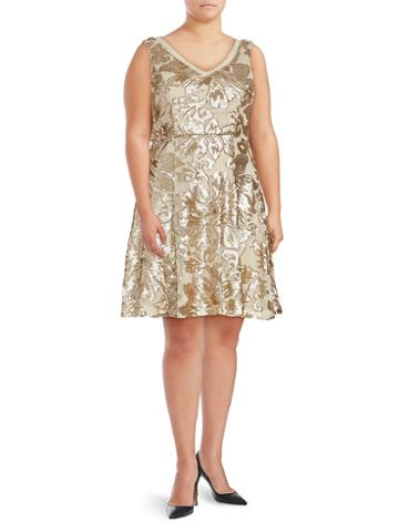 Marina Sequined Pleated Dress