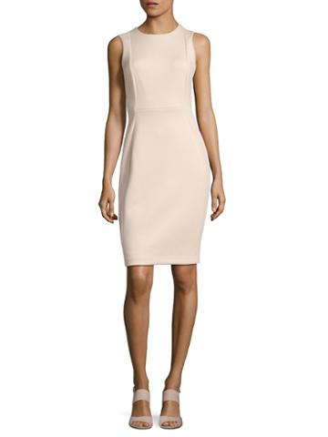 Calvin Klein Solid Seamed Sheath Dress